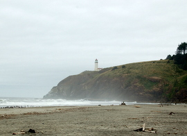 North Pt. light from Benson Beach.