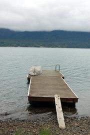 Private lake dock.